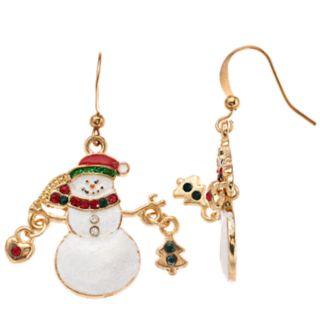 Snowman Nickel Free Drop Earrings