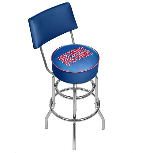 Detroit Pistons Padded Swivel Bar Stool with Back