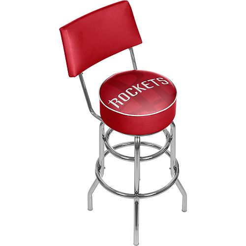 Houston Rockets Padded Swivel Bar Stool with Back