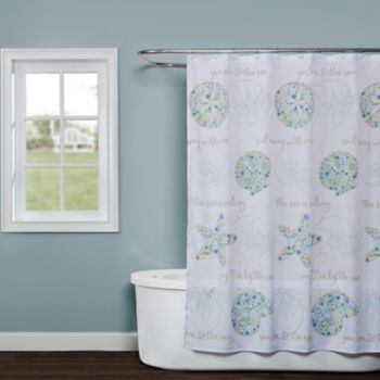 Saturday Knight, Ltd. Seaside Blossoms Shower Curtain