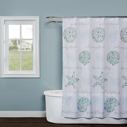 Saturday Knight, Ltd. Seaside Blossoms Shower Curtain