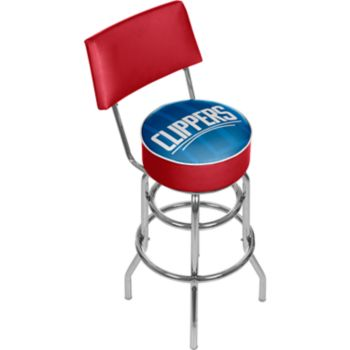 Los Angeles Clippers Padded Swivel Bar Stool with Back