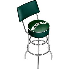 Milwaukee Bucks Padded Swivel Bar Stool with Back