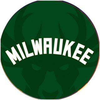 Milwaukee Bucks Padded Swivel Bar Stool with Back