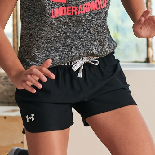 Girls Under Armour Play Up Solid Shorts