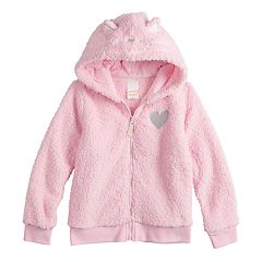 Girls 4-12 Jumping Beans® Cat Plush Hoodie