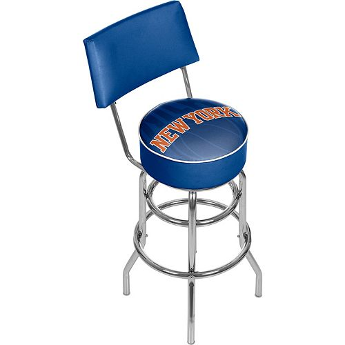 New York Knicks Padded Swivel Bar Stool with Back