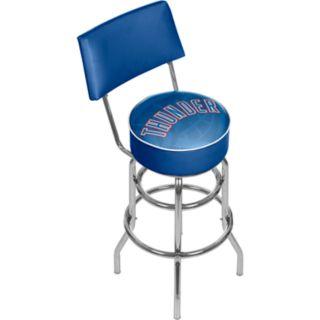 Oklahoma City Thunder Padded Swivel Bar Stool with Back