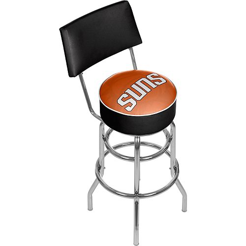 Phoenix Suns Padded Swivel Bar Stool with Back