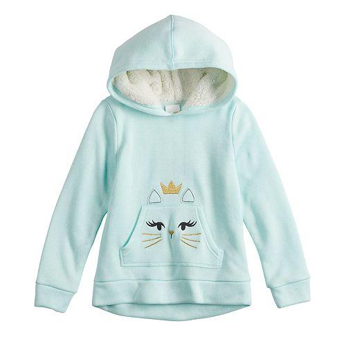 Girls 4-12 Jumping Beans® Embroidered Fleece Hoodie