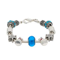 Winter Bead Charm Bracelet