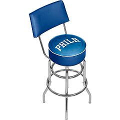 Philadelphia 76ers Padded Swivel Bar Stool with Back