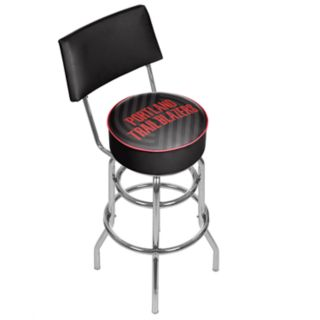 Portland Trail Blazers Padded Swivel Bar Stool with Back