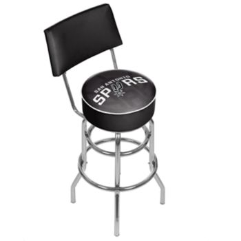 San Antonio Spurs Padded Swivel Bar Stool with Back