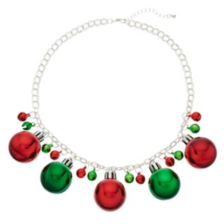 Christmas Ornament Statement Necklace