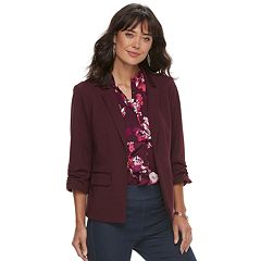 Women's ELLE Ruched Sleeve Blazer