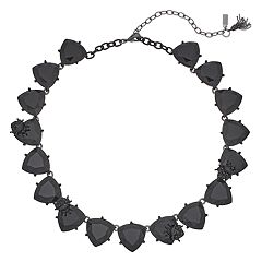 Simply Vera Vera Wang Black Triangle Link Collar Necklace