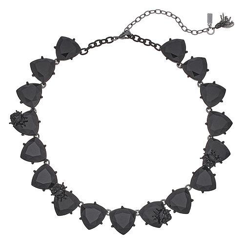 Simply Vera Vera Wang Black Triangle Link Collar Necklace
