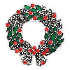 Christmas Wreath Pin