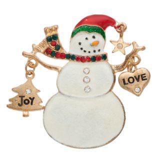 Holiday Snowman Pin