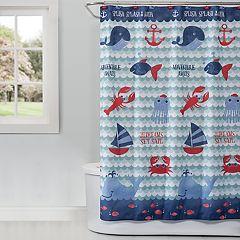 Saturday Knight, Ltd. Set Sail Shower Curtain