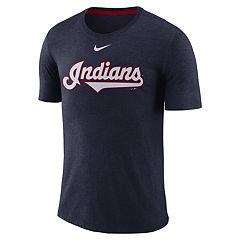 Nike Men's Cleveland Indians Burnout Raglan Tee