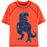 Boys 4-8 Carter's T-Rex Dinosaur Rashguard