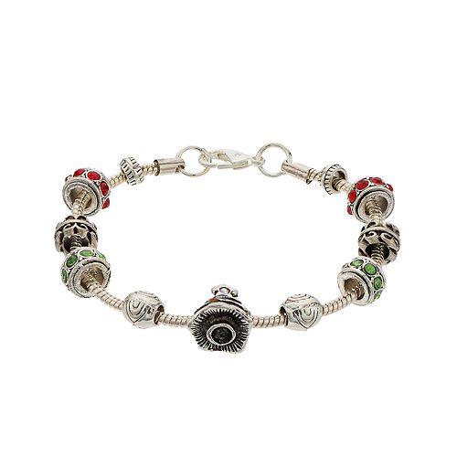 Holiday Bead Charm Bracelet