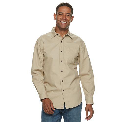 Men's Croft & Barrow® Classic-Fit Denim & Twill Button-Down Shirt