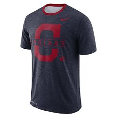 Nike Men's Cleveland Indians Dri-FIT Slubbed Tee
