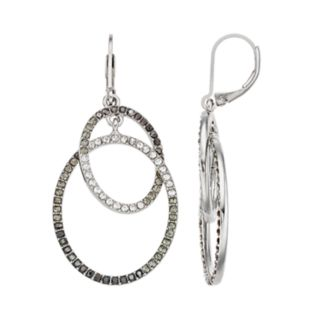 Simply Vera Vera Wang Simulated Crystal Ombre Hoop Drop Earrings