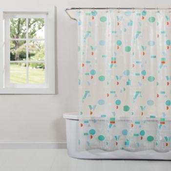 Saturday Knight, Ltd. Words PEVA Shower Curtain