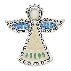 Silver Tone Angel Pin