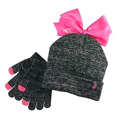 Girls 7-16 JoJo Siwa Bow Beanie Hat & Magic Gloves Set