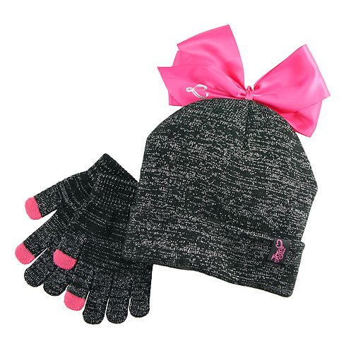 862b262024f Girls 7-16 JoJo Siwa Bow Beanie Hat   Magic Gloves Set