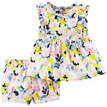 Baby Girl Carter's Floral Top & Shorts Set