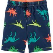 Boys 4-8 Carter's Dinosaur Print Swim Trunks