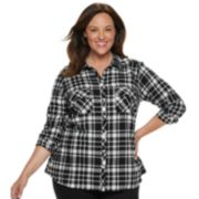Plus Size Croft & Barrow® Classic Soft Button-Down Shirt