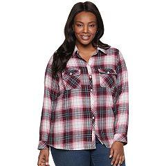Plus Size Croft & Barrow® Classic Soft Button-Down Shirt