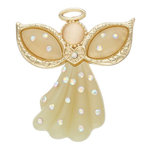 Gold Tone Angel Pin