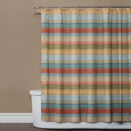 Saturday Knight, Ltd. Kochi Stripe Shower Curtain