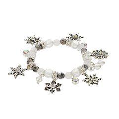 Snowflake Charm Stretch Bracelet