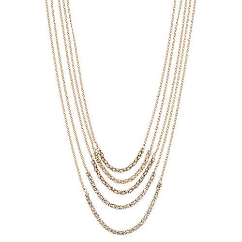Simply Vera Vera Wang Multi Strand Long Necklace