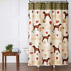 Saturday Knight, Ltd. Dog's Life Shower Curtain
