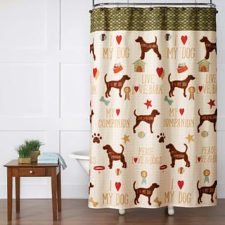 Saturday Knight, Ltd. Dog's Life Shower Curtain