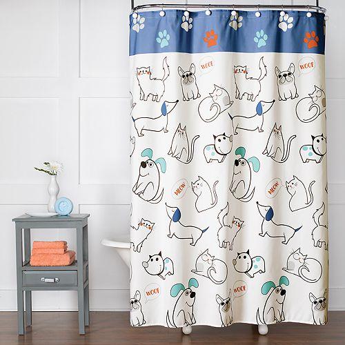 Saturday Knight, Ltd. Pet Playground Shower Curtain