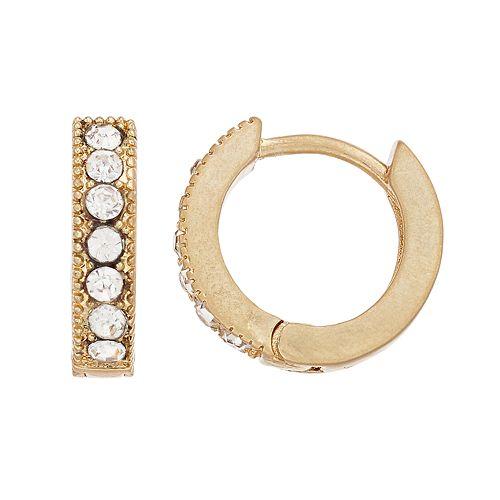 Simply Vera Vera Wang Gold Tone Hoop Earrings
