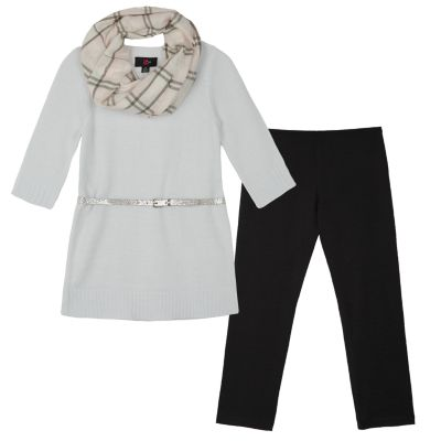 Girls 7-16 & Plus Size IZ Amy Byer Belted Tunic, Leggings and Scarf Set