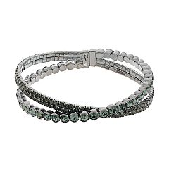 Simply Vera Vera Wang Simulated Crystal Flexible Cuff Bracelet