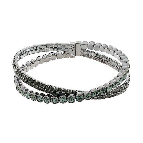 Simply Vera Vera Wang Simulated Crystal Flexible Cuff Bracelet